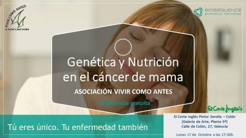 BioSequence participa en la próxima Jornada de Cáncer de mama organizada por la Asociación de pacientes Vivir como Antes