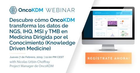 Webinar online OncoDNA: OncoKDM, la plataforma de interpretación de datos